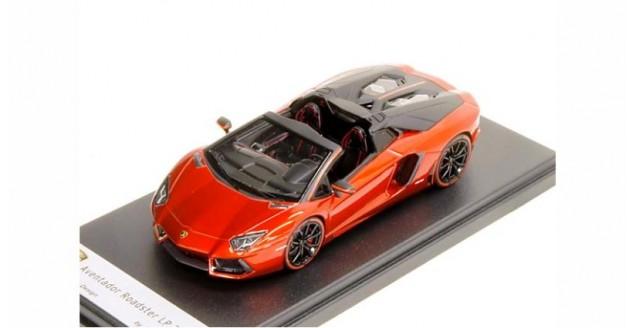 Lamborghini Aventador LP700-4 Roadster PIRELLI Edition 2013 Red Metallic 1:43 LookSmart LS413PIR-B