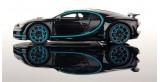 Bugatti Chiron Zero-400 Black Metallic / Blue 1:43 LookSmart LS459SE
