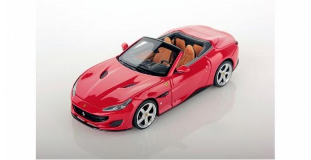 Ferrari Portofino 2017 Open Roof Rosso Red 1:43 LookSmart LS480SE