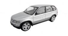 BMW X5 2000 Silver 1:43 Minichamps 431028470