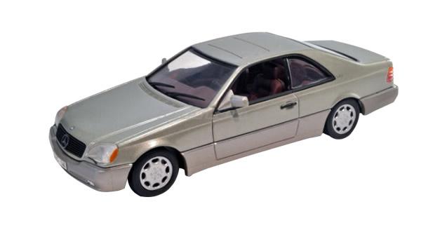 Mercedes 600 SEC Silver 1:43 Minichamps 32602