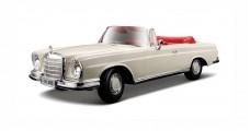 Mercedes 280SE Cabrio 1967 White 1:18 Maisto 31811