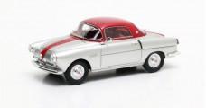 Fiat 600 Viotti Coupe Silver Red 1:43 Matrix MX30602-081