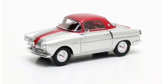Fiat 600 Viotti Coupe Silver Red 1:43 Matrix MX30602-081