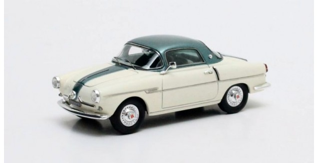 Fiat 600 Viotti Coupe Cream White Green 1:43 Matrix MX30602-082