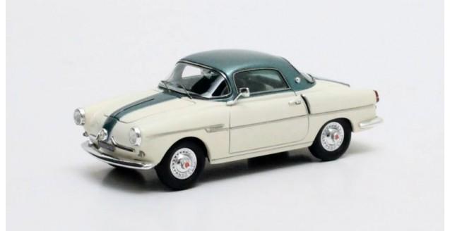 Fiat 600 Viotti Coupe Cream White Green 1:43 Matrix MX30602-082