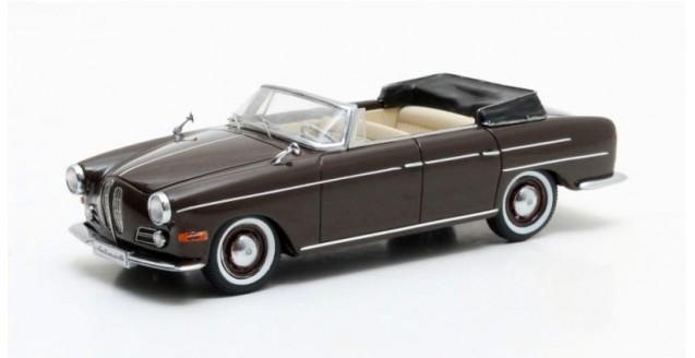 BMW 502 3200 V8 Super Cabriolet year 1959 Dark Brown 1:43 Matrix MX40202-071