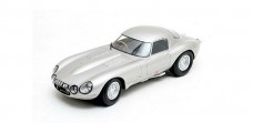 Diecast E-Type Jaguar Low Drag Coupe 1963 Silver 1:43 Matrix MX41001-081