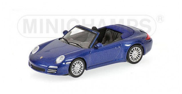 Porsche 911 Carrera 4S 2008 Blue 1:64 Minichamps 640066470
