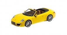 Porsche 911 Carrera S Cabriolet 991 Yellow 2012 1:18 Minichamps 100061031