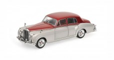 Bentley S2 1960 Silver / Dark Red 1:18 Minichamps 100139950