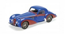 Delahaye Type 145 V12 Coupe Year 1937 Blue Red 1:18 Minichamps 107116121