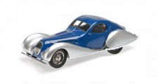 Talbot Lago T 150-C-SS Coupe 1937 Blue / Silver 1:18 Minichamps 107117122