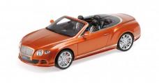 Bentley Continental GT Speed Convertible Orange 1:18 Minichamps 107139430