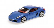 Porsche Cayman 981C Year 2013 blue metallic 1:18 Minichamps 110062221
