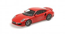 Porsche 911 (991) Turbo S Year 2013 Red 1:18 Minichamps 110062320