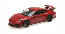 PORSCHE 911 GT3 2017 Black Wheels Red 1:18 Minichamps 110067020