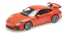 Porsche 911 GT3 2017 Orange 1:18 Minichamps 110067022