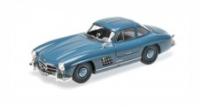 Mercedes-Benz 300 SL W198 Coupe Year 1954 Light Blue 1:18 Minichamps 180039007