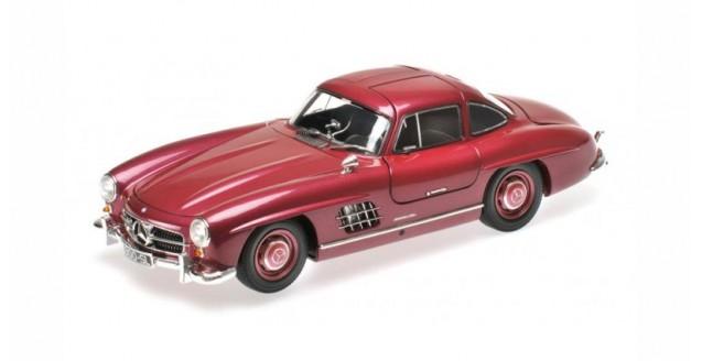 Mercedes-Benz 300SL Year 1954 Dark Red Metallic 1:18 Minichamps 180039008