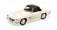 Mercedes Benz 300SL Roadster Spider (W198) 1957 White 1:18 Minichamps 180039034