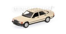 Mercedes 190E 1984 Cream 1:43 Minichamps 400034104