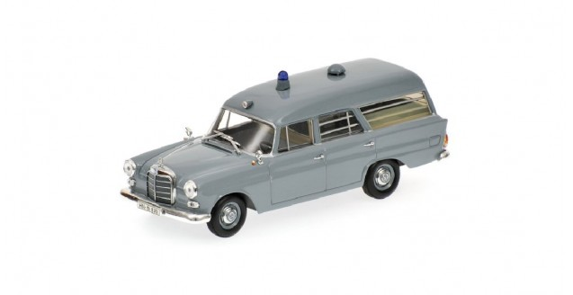 Mercedes Benz 190 Estate Krankenwagen 1961 Grey 1:43 Minichamps 400037270