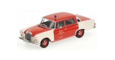 Mercedes Benz 200 Feuerwehr Schorndorf 1965 Red 1:43 Minichamps 400037290