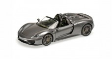 Porsche 918 Spyder Year 2013 Gray Metallic 1:43 Minichamps 410062132