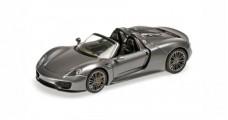 Porsche 918 Spyder Year 2013 Gray Metallic 1:43 Minichamps 410062132