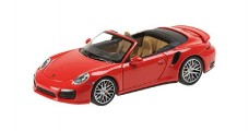 Porsche 911 Turbo S Cabriolet Red 1:43 Minichamps 410062230