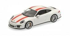 Porsche 911 (991) R year 2016 white / red 1:43 Minichamps 410066220