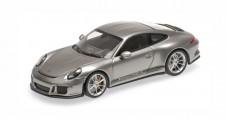 Porsche 911 (991) R year 2016 silver 1:43 Minichamps 410066224