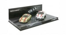 Porsche 911 Record Car Monza 1967, Porsche 911 R (991) 2016 2 car Set 1:43 Minichamps 412066220