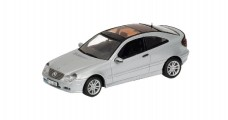 Mercedes C Sports Coupe 2001 Silver 1:43 Minichamps 430030002