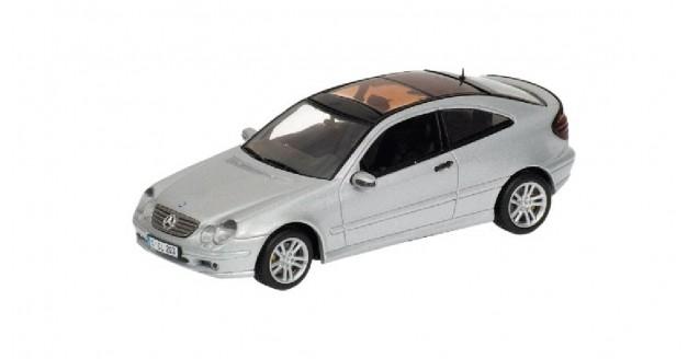 Mercedes C Sports Coupe 2001 Silver 1:43 Minichamps 430030002