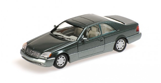Mercedes Benz 600 SEC Coupe Green 1:43 Minichamps 430032604