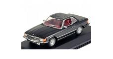 Mercedes 350SL Cabriolet Black 1:43 Minichamps 430033451