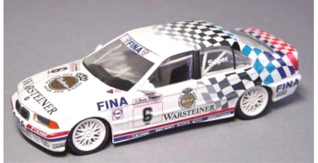 BMW E36 1993 318i 06 Soper Vice Champion BTCC White 1:43 Minichamps 430932306