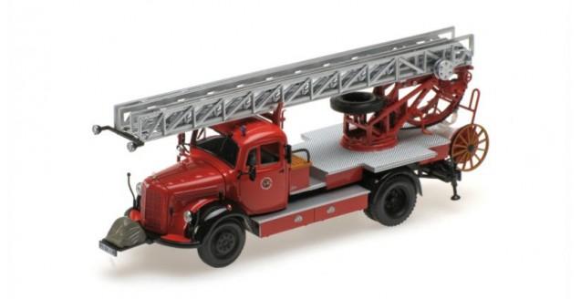 Mercedes-Benz L3500 DL17 Fire Department Bensheim 1950 Red 1:43 Minichamps 439350080