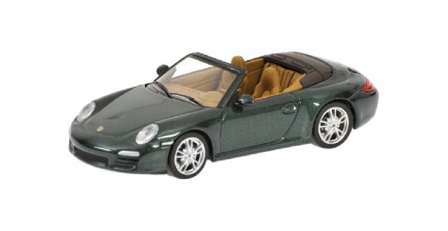 Porsche 911 Carrera S Cabriolet Green 1:64 Minichamps 640066430
