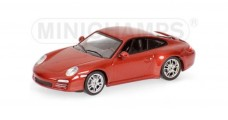 Porsche 911 Carrera 4S 2008 Red 1:64 Minichamps 640066460