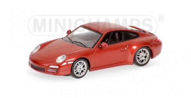 Porsche 911 Carrera 4S 2008 Red 1:64 Minichamps 640066460