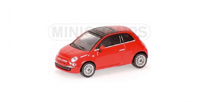 Fiat 500 Red 2007 1:64 Minichamps 640121700