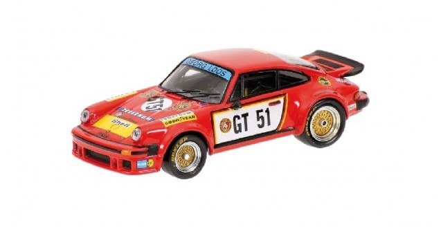 Porsche 934 Gelo Tebernum Racing Red 1:64 Minichamps 640766451