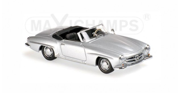Mercedes-Benz 190 SL Year 1955 Silver 1:43 Minichamps 940033130