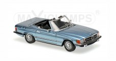 Mercedes Benz  350SL Spider (R107) 1971 Light Met Blue 1:43 Minichamps 940033430