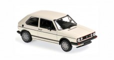 Volkswagen VW Golf I GTI Year 1983 white 1:43 Minichamps 940055171