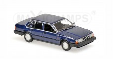 Volvo 740 Gl 1986 Dark Blue Metallic Minichamps 940171701