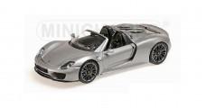Porsche 918 Spyder Grey Silver 1:43 Minichamps WAP0201000E